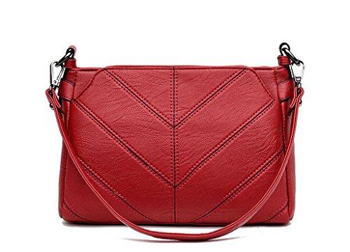 Borse, borse, spalla di modo, sacchetto del messaggero, una piccola barbona Big red