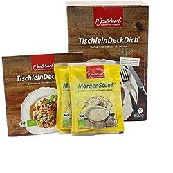 Jentschura TischleinDeckDich 800g + GRATIS Zugaben + Rezepte Größe 2x MorgenStund à 35g