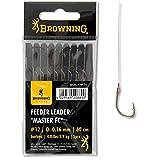 Browning Feeder Angelhaken mit Vorfach gebunden Leader Master FC Bronze Gr. 12