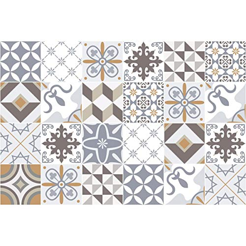 Ambiance-Live 24Pegatinas Adhesivas para Azulejos. Mosaico para Azulejos de Pared de baño...