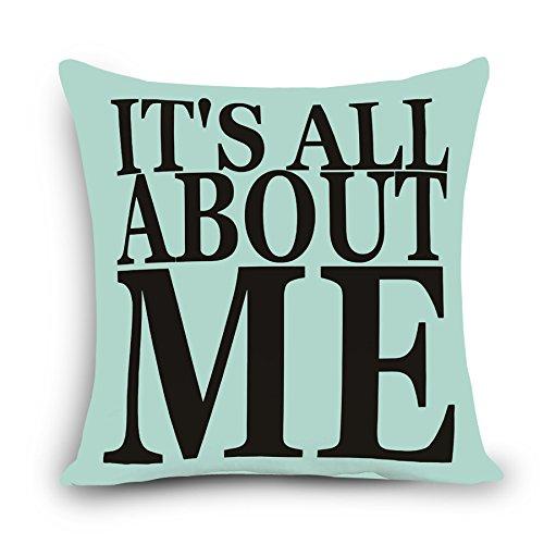 MAYUAN520 Zierkissen Worte Mustern Gedruckt Home Decor Schlafsofa Kissenbezug 45 X 45 Cm Kopfkissenbezug Baumwolle Kissenbezug Myj - G 8.450 Mm * 450 Mm, Violett