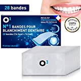 O³ Bandes de Blanchiment dentaire | Blanchissement dentaire | 28 Bandes solution dents blanche