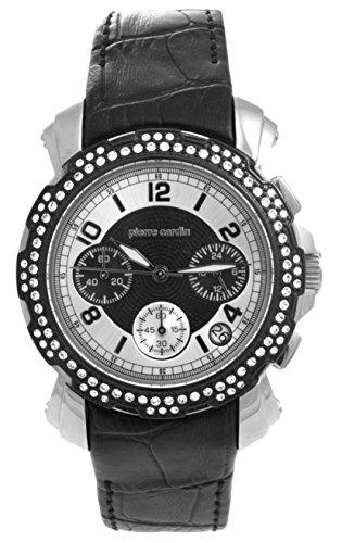 Pierre Cardin PC100192F01 - Orologio da polso da donna, cinturino in pelle colore nero