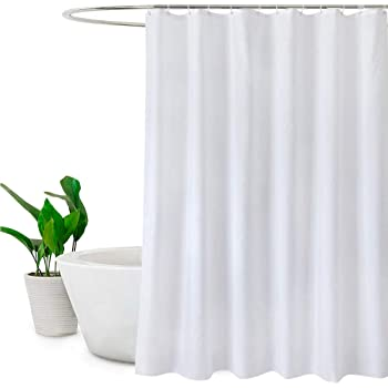 Frosted Shower Curtain Mildew Resistant Waterproof Liner With 3 Weighted Magnets