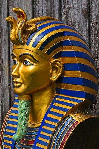 Goldmaske, Totenmaske des Tutenchamun, Tut-Ench-Amun Replik in (Pharao Kostüme Mumie)