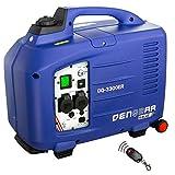 DENQBAR 3,3 kW Inverter Stromerzeuger Notstromaggregat Generator mit eBLUE Technologie, E-Start und Funk