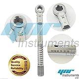 Implante dental Llave Torque Trinquete Universal 10-45 NCM 6.35mm CE ISO