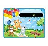 Happy Family Teddy Bären und Luftballons Baby Kinderzimmer & Raum Sicherheit Temperatur Thermometer