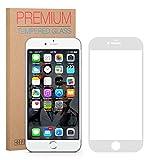 FUTLEX iPhone 6 Plus / 6S Plus Displayschutzfolie [Vollständige Abdeckung] - Weiß, Panzerglasfolie Gehärtetes Glas - 0.33mm dick - HD-Transparenz - 2.5D abgerundete Ecken - Japanisches Glas