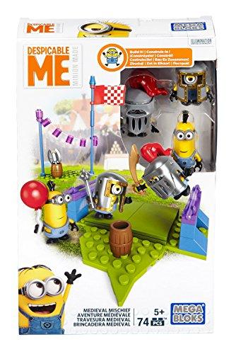 Mattel mega bloks dpg69ich, einfach unverbesserlich, minion gioco cavalieri, mondo a tema, (lingua italiana non garantita)