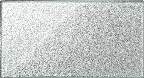 baldosas de cristal en formato ladrillo Plata con purpurina baldosas e