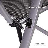 """Homeoutfit24 Gartenstuhl-Set Hochlehner """"California"""" wetterfest - 5"""