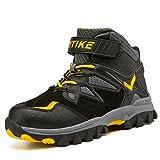 Scarpe da escursionismo per bambini Scarpe antisdrucciolevoli in inverno Stivali da neve Scarpe da cotone per ragazze ragazzi?Giallo EU38)