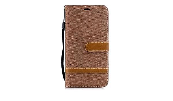 Lomogo Leather Wallet Case with Kickstand Card Holder Shockproof Flip Case Cover for Xiaomi Redmi 6 Pro//Mi A2 Lite LOBFE12807 Brown Xiaomi Redmi 6Pro Case