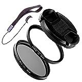 LUMOS Starter 58mm UV Filter Polfilter Set passt zu Canon EF-S 18-55 55-250 mm EF 85mm 1.8 75-300 mm z.B. an EOS 1300D 200D 750D 2000D 4000D | Kamera Objektiv Zubehör