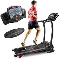 Preisvergleich für Sportstech F15 Laufband mit Smartphone App Steuerung, Bluetooth, 3 PS, 12 KM/H, 17 Programme und Tablethalterung - kompakt klappbar verstaubar