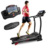 Sportstech Tapis de Course électrique F15 Commande Application Smartphone, Bluetooth, 3 CV, 12 KM/H, 17 programmes d'entraînement, Support Tablette, Pliable Compact, Silencieux