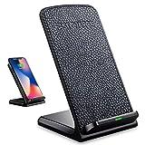 Ladehalterung, Qi kabelloses Laden, Standard-Halterung, Schnellladegerät, Ständer für Qi-Geräte, für iPhone X Plus, Samsung Note 8S8S7S6Edge