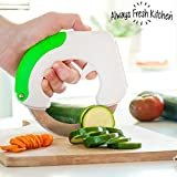 Always Fresh Kitchen Chop & Roll Couteau, acier inoxydable, blanc, 3 x 15 x 14,5 cm