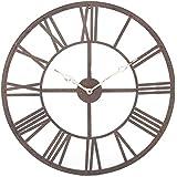 Gran reloj de pared de metal estilo vintage - diámetro 70 cm.