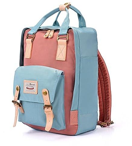 Nylon Rucksack Damen Teenager Large School Bag Schulrucksack Mädchen Colleage