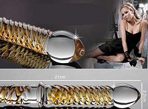 *Sexy Hoffnung Kristall Glasdildo – Vibrators Penis G-Punkt-Stimulator Massagegerät Anal Buttplug – 21,cm lang – Ø 32mm*