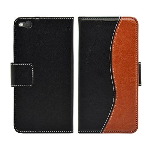 Membrane Hülle HTC One X9 Lederhülle S-Line im Bookstyle Klapphülle Magnet Wallet Book Case Flip Cover Schutzhülle