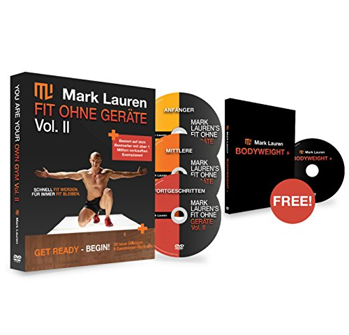 Körpergewicht Workout DVD | Mark Lauren's Fit ohne Geräte II DVD-Set (Deutsch)