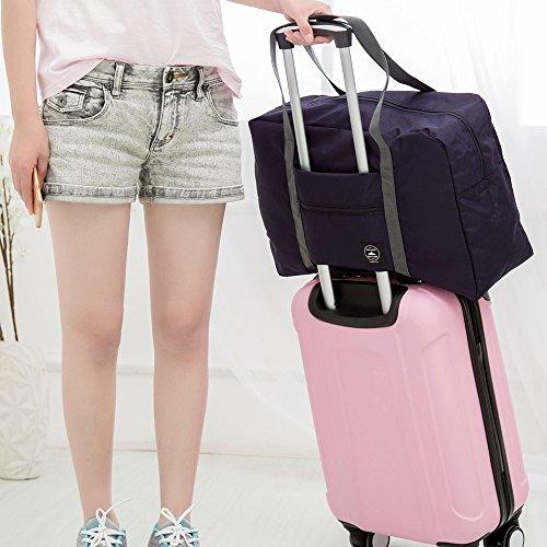 Sacchetto bagagliArxus portatile pieghevole di immagazzinaggio leggero impermeabile di viaggio Navy Blue
