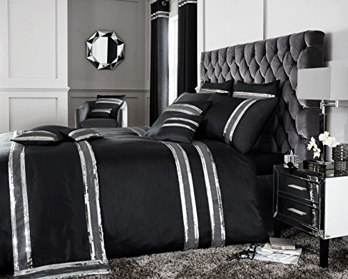 Comfy Nights Diva Duvet Set (Duvet Cover With Pillow Covers) Or Cushion Covers (BLACK, Cushion Cover)