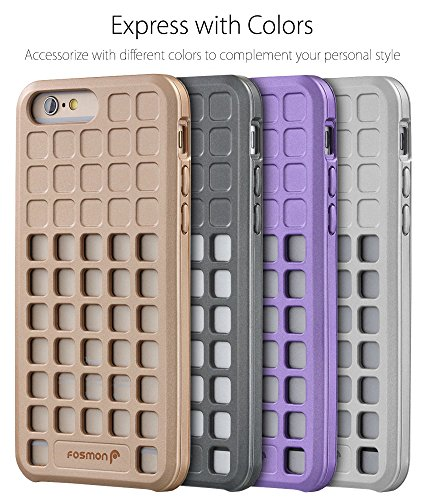 "Fosmon DURA-SQUIRCLE TPU Case Cover hülle für Apple iPhone 6/6s (4.7"") - Gold schwarz"