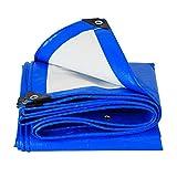 DQMSB Impermeabile teloni Ispessimento Auto Tenda da Sole Tempesta di Pioggia telone del Camion Leggero telone (Colore : Blue White, Dimensioni : 6x10m)