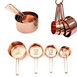 kupferfarben Edelstahl Messbecher für Küche Kochen Backen etc 4er Set