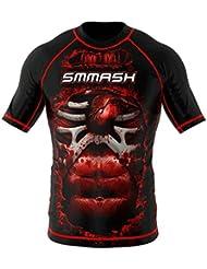 Rashguard SMMASH BLOOD 3.0 manga corta MMA BJJ UFC S M L XL XXL XXXL (XL)