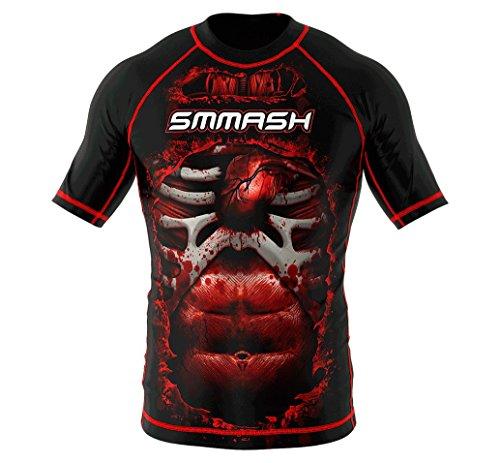 SMMASH Rashguard BLOOD 3.0 Kurzarm MMA BJJ UFC Kampfsport