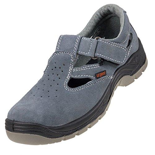Leicht Sicherheit Sandalen grau Anti statische Rutschfeste Stahlkappe 302s1, UK10 - EU45, grau, 140 (Leichte Sandale)