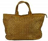 BOZANA Bag Naomi giallo gelb Italy Designer Damen Handtasche Tasche Schafsleder Shopper Neu