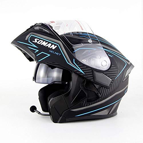 ZHYY Casco Motocicleta Bluetooth Levante Casco Moto