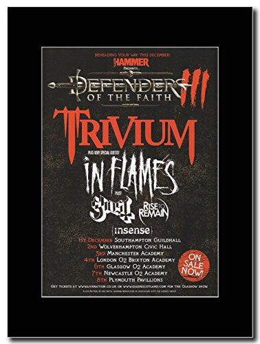 Trivium-Defender of the Faith UK Tour Dates 2011Magazine promo su una montatura nero