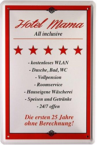 """Diseño con texto """"Hotel Mama"""" 20 x 30 cm publicidad Retro chapa 1258"""