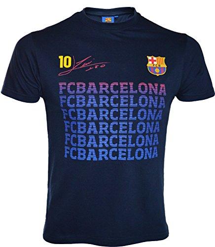 Fc Barcelone T-Shirt Lionel Messi - N°10 - Barça - Collection Officielle Taille Enfant garçon 12 Ans