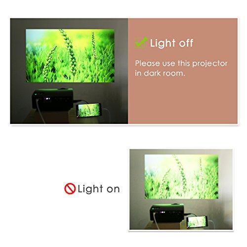 smartphone beamer f r iphone android tablet ragu z480 mini tragbarer video beamer via usb. Black Bedroom Furniture Sets. Home Design Ideas