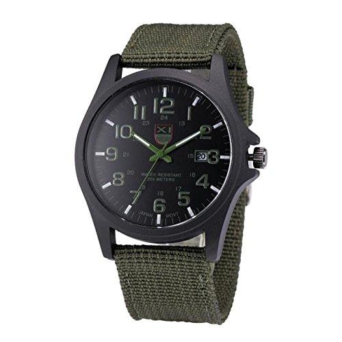 ALIKEEY Herren Chronograph Quarzwerk Sports Datums Edelstahl MilitärFreien analoge Armee der Uhr mit Blech Armband -
