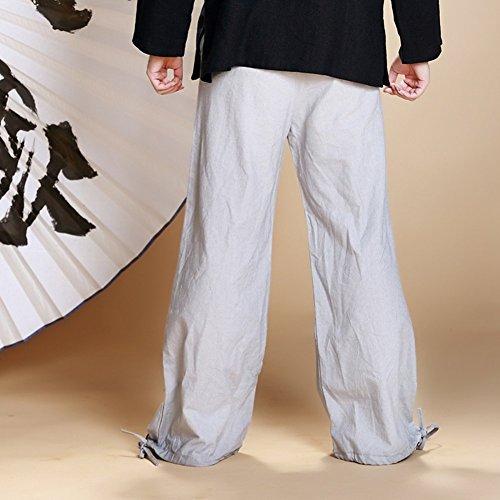Katuo–Pantaloni Casual elastico in vita taglia unica Gray