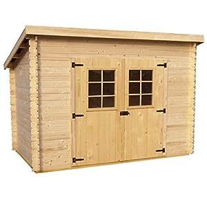 Box Casetta legno 20mm 300x184xh200cm + pavimento giardino attrezzi CH3019.01