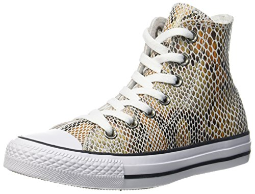 Converse Unisex Adults' CTAS Natural/Black/White Hi-Top Trainers, Multicolour (Natural/Black/White 101), 5 UK