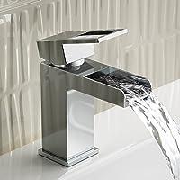Luxury cromata Rubinetto miscelatore monoblocco cascata per lavabo TB3111