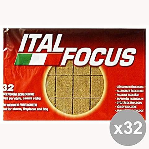 Conjunto de 32 * 32 cubos encendedores ecológicos ITALFOCUS barbacoa y de picnic
