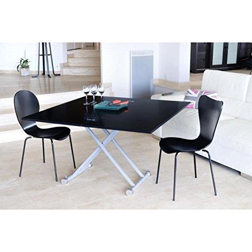 Générique Upper Table relevable et Extensible mélamine Noir