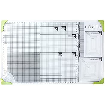 Tonic Studios 352e A3 Glass Cutting Mat, White/Green